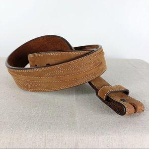 Justin Soft Cowhide Brown Stitched Belt Size 36